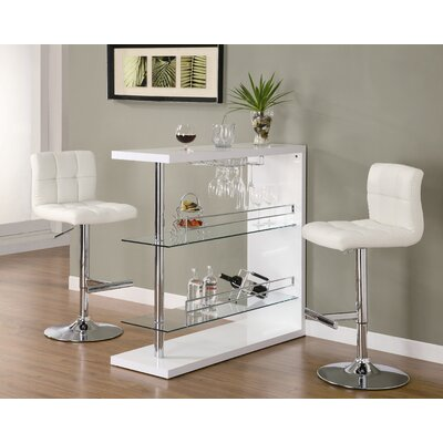 Wildon Home ® Fairlie Bar Table in White