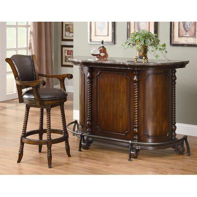 Wildon Home ® Flower Mound Bar Unit in Cherry