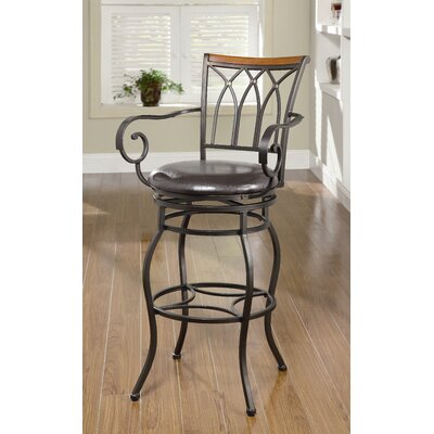 Wildon Home ® Hackberry Barstool in Black