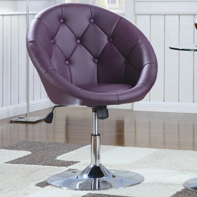Hebron Swivel Chair in Purple
