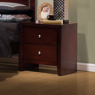 Detroit 2 Drawer Nightstand