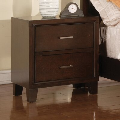 Wildon Home ® Tyler 2 Drawer Nightstand