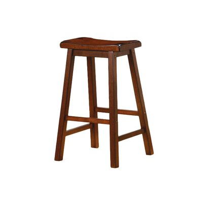 "Wildon Home ® Aloha 29"" Bar Stool in Dark Walnut"