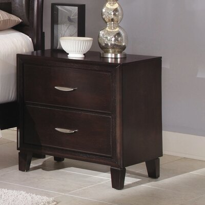Clinton 2 Drawer Nightstand