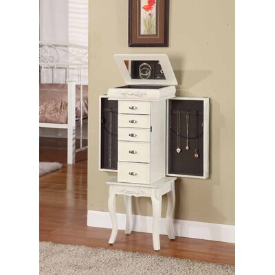 Wildon Home ® Moser Jewelry Armoire with Mirror