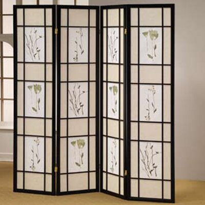 Wildon Home ® 4 Panel Shoji Screen Room Divider