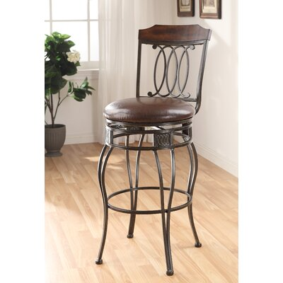 Wildon Home ® Tavio Swirl Back Swivel Barstool