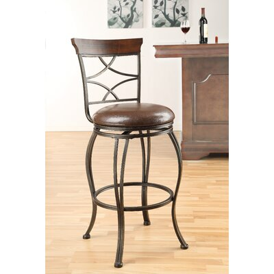 Wildon Home ® Tavio Metal Swivel Barstool