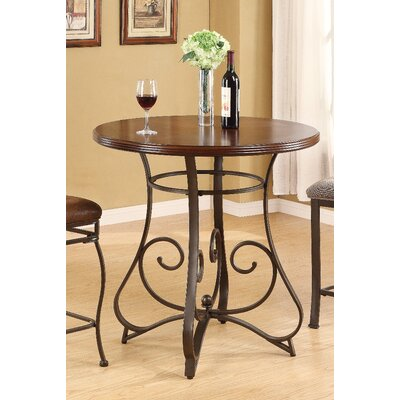 Tavio Scroll Leg Bar Table