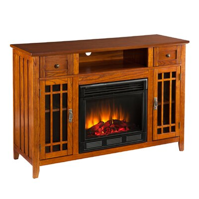 "Wildon Home ® Breevort 52"" TV Stand with Electric Fireplace"