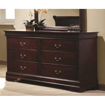 61Carbon 6 Drawer Dresser