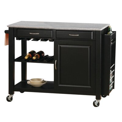 Wildon Home ® Cottonwood Kitchen Cart with Granite Top