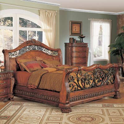 Wildon Home ® Nicholas Sleigh Bedroom Collection
