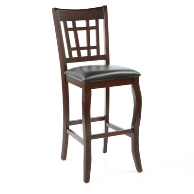 "Wildon Home ® Hoyt 29"" Bar Chair in Dark Cherry"