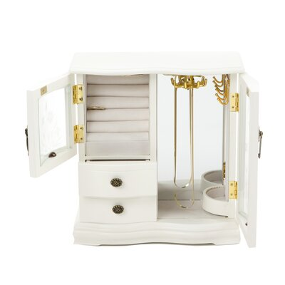 Wildon Home ® Classical Collection Two Dual Case Jewelry Box in Cream