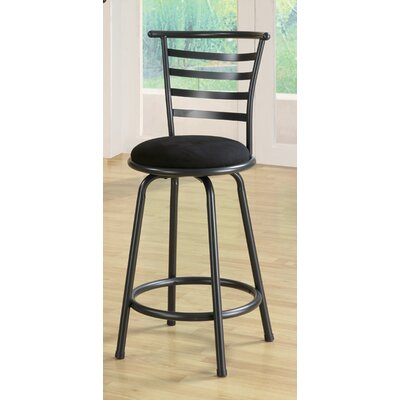 Wildon Home ® Burgess Slat Back Barstool in Gunmetal Gray