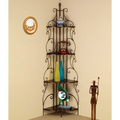 Four Tier Metal Etagere Shelf