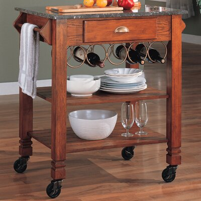 Wildon Home ® Douglas Kitchen Cart with Granite Top