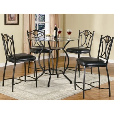 Wildon Home ® Starks 5 Piece Counter Height Dining Set