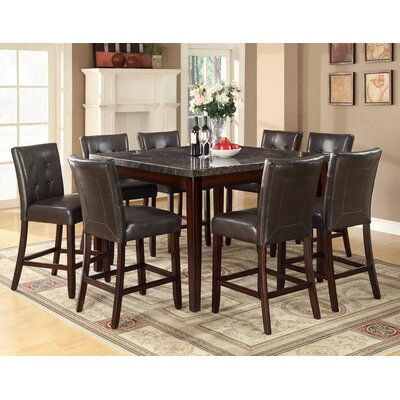 Wildon Home ® Laurence 9 Piece Counter Height Dining Set