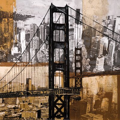 Wildon Home ® Golden Gate City Wall Art