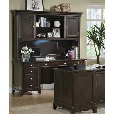 Wildon Home ® Doyle Credenza Desk with Hutch