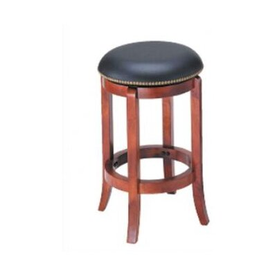 "Wildon Home ® 24"" Swivel Bar Stool with Nailhead Trim"