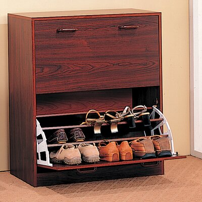 Wildon Home ® Cherry Queen Creek Double Shoe Cabinet
