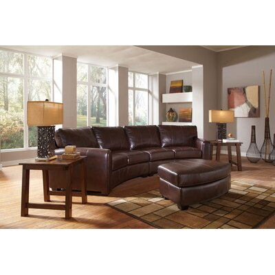 Wildon Home ® Princeton Bonded Leather Sectional