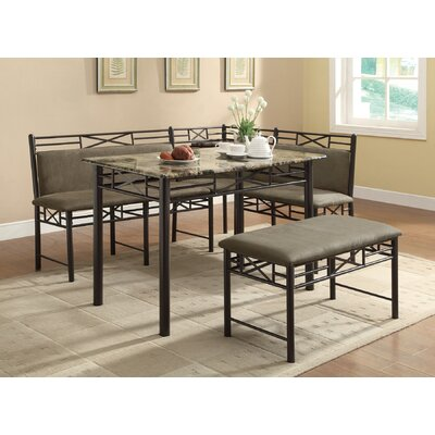 wildon home mathew 3 piece corner nook dining set reviews wayfair. Black Bedroom Furniture Sets. Home Design Ideas