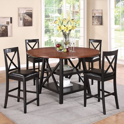Wildon Home ® Dallas 5 Piece Counter Height Dining Set