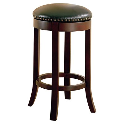 "Wildon Home ® Perris 29"" Bar Stool in Black/Cherry"
