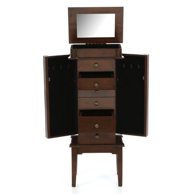Wildon Home ® Elanor Six Drawer Jewelry Armoire in Coffee