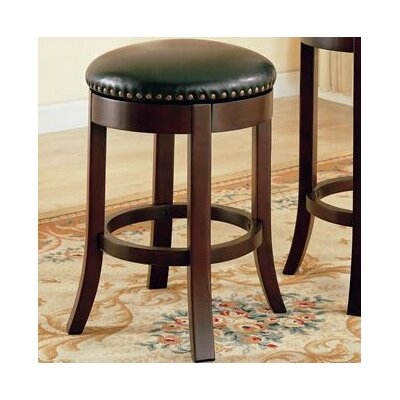 "Wildon Home ® Perris 24"" Bar Stool with Cushioned Seats and Veneer Back Side in Cherry"