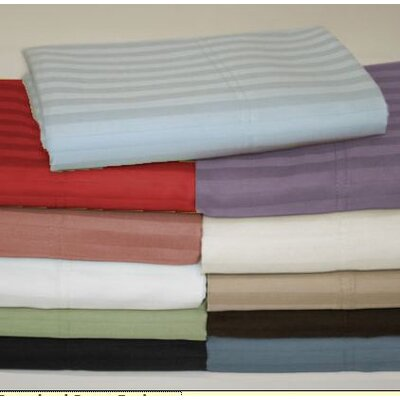 Wildon Home ® Wrinkle Resistant 300 Thread Count Woven Stripe Sheet Set