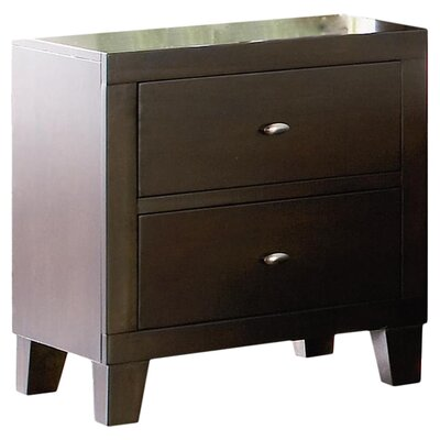 Wildon Home ® Kingman Deep 2 Drawer Nightstand