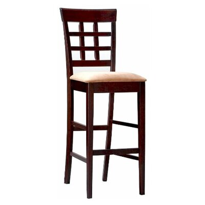 "Wildon Home ® Derby 30"" Bar Stool in Deep Cappuccino"
