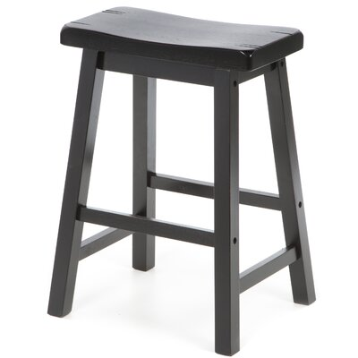 "Wildon Home ® Aloha 24"" Stool in Antique Black"