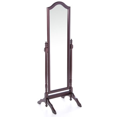 "Wildon Home ® Sammamish 65.75"" Cheval Mirror in Cherry"