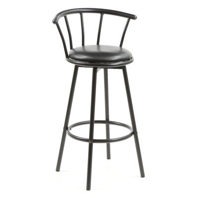 "Wildon Home ® Oro Valley 29"" Barstool in Satin Black"