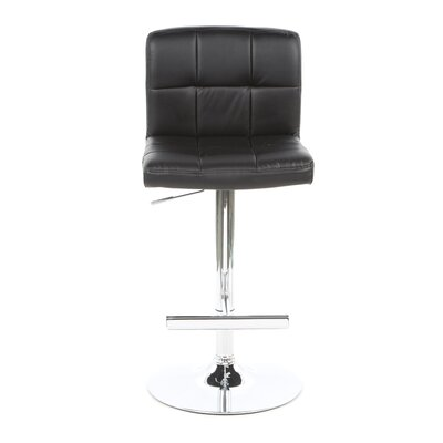 Wildon Home ® Groom Barstool with Quilted Back in Black