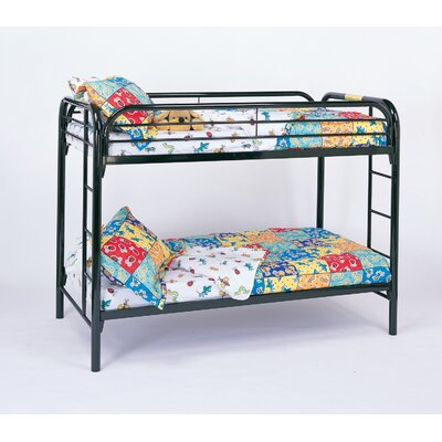 Wildon Home ® Framington Twin over Twin Futon Bunk Bed with Built-In Ladder