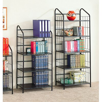 Wildon Home ® Sherwood Five Tier Bookcase in Black