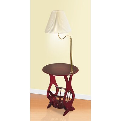 wildon home elma swing arm brass lamp end table reviews wayfair. Black Bedroom Furniture Sets. Home Design Ideas