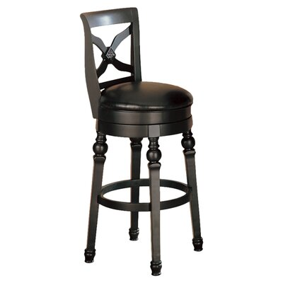 "Wildon Home ® Littleton 32"" Back Bar Chair in Black"