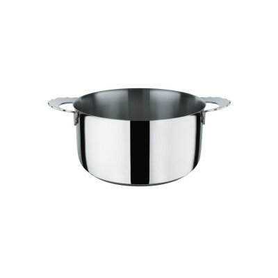 Dressed Stainless Steel Round Casserole