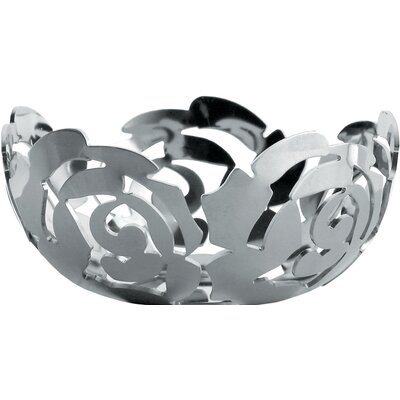Alessi La Rosa by Emma Silvestris Stainless Steel Tealight Candle Holder