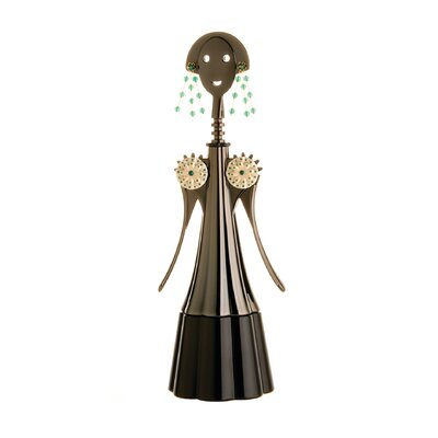 Alessi Anna Etoile Silver, Gold and Green Corkscrew by Alessandro Mendini