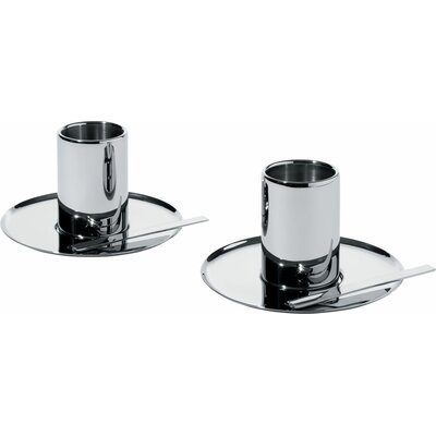 Alessi Nouvel Mocha Cup and Saucer (Set of 2)