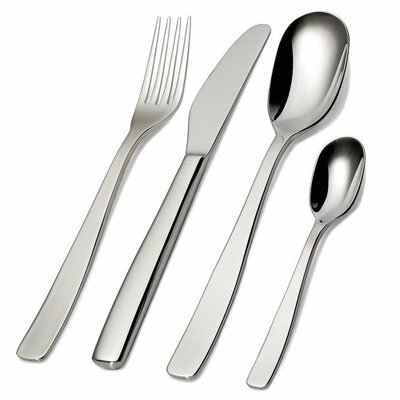 Alessi Knifeforkspoon 24 Piece Flatware Set